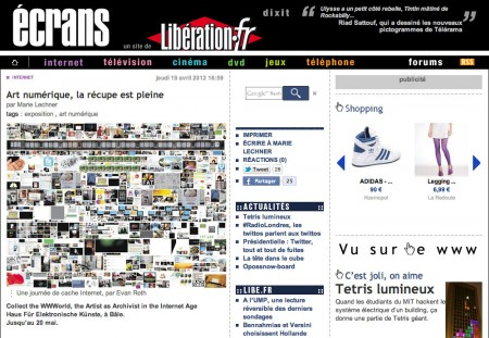 libération on Collect the WWWorld
